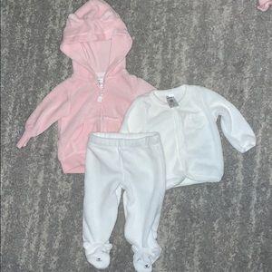 Bundle Carter's terry cloth pants & jackets, hood